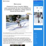Site web hiver ski de fond