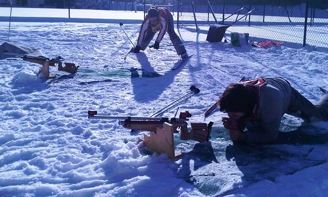 Épreuve de Biathlon entre amis