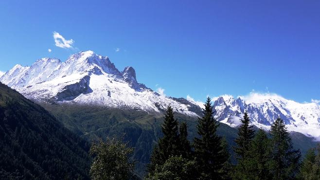 High Mountain peaks above Chamonix
