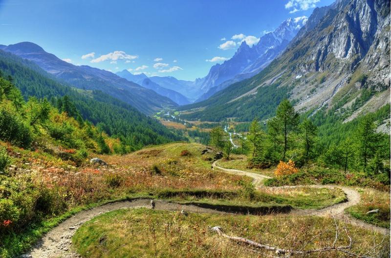 Panorama du Val ferret Italien