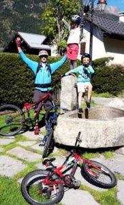 Kids having fun with the Mountain biking school