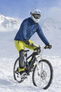Sensation unique avec le vtt éléctrique sur neige